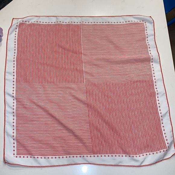 Red and white scarf/handkerchief